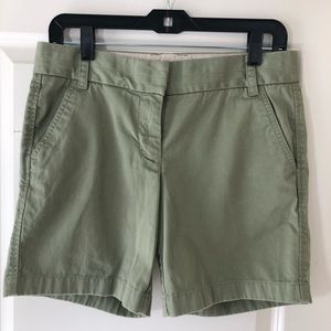 EUC JCREW Broken In Chino Shorts, Olive